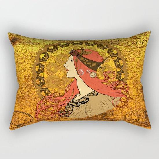 Steampunk Nouveau Rectangular Pillow