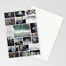 Simplistic Beauty Bubble Collage Stationery Cards