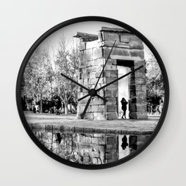 Madrid reflections Wall Clock