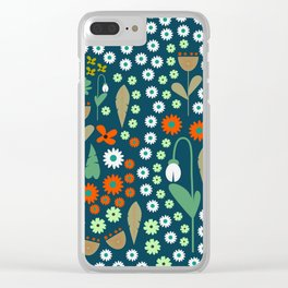 Floral field with snowdrops Clear iPhone Case