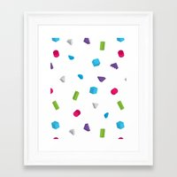 confetti Framed Art Prints featuring Confetti by Eric Zelinski