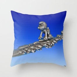 Silver Smurfer Throw Pillow
