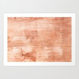 Burly wood hand-drawn aquarelle Art Print