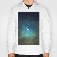 surrealism Hoodies featuring Solar Eclipse 1 by Aaron Carberry