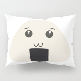 kawaii onigiri rice face Pillow Sham