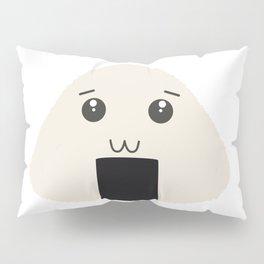 kawaii onigiri rice face Pillow Sham