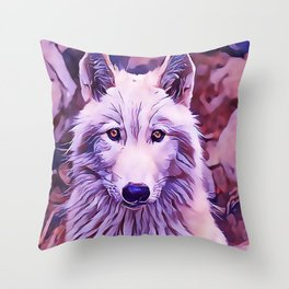 The Arctic Wolf Throw Pillow