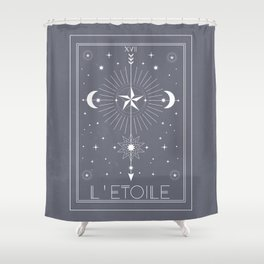 L'Etoile or The Star Tarot Shower Curtain