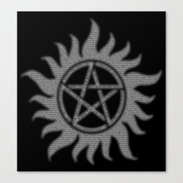 Carry On Supernatural Pentacle Canvas Print