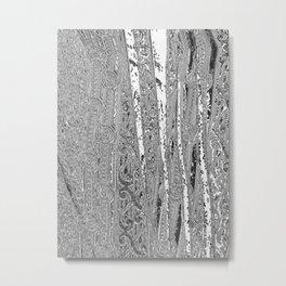 Slashed and Broken Pattern Chrome Metal Print
