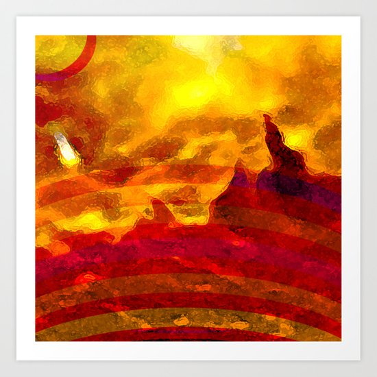 The Red Planet. Art Print