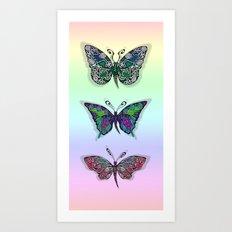 Rainbow Butterflys Art Print