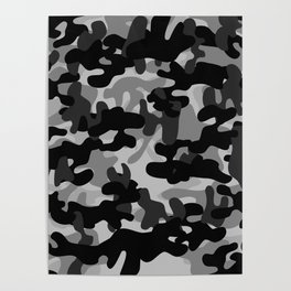 Camouflage (Gray) Poster