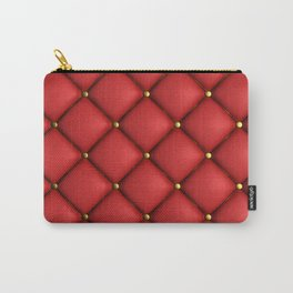 Red quilted texture Carry-All Pouch