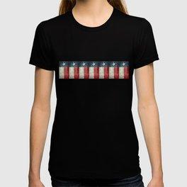 Vintage Texas flag pattern T-shirt