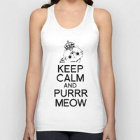exo Tank Tops featuring Exo Cat : Keep Calm  And Purrr Meow! by The Gang of Fur