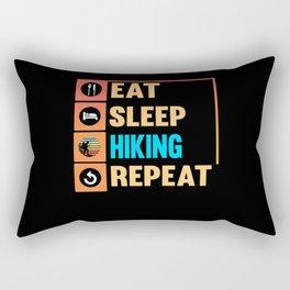Hiking Camping Nature Mountains Vacation Hike Rectangular Pillow