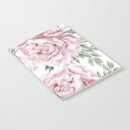 Girly Pastel Pink Roses Garden Notebook