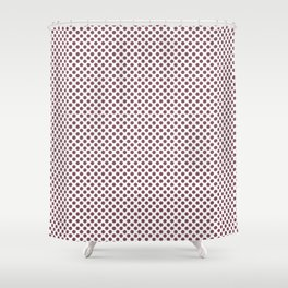 Crushed Berry Polka Dots Shower Curtain