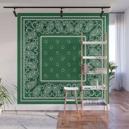 Classic Green Bandana Wall Mural