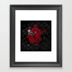 Angry Fish Framed Art Print