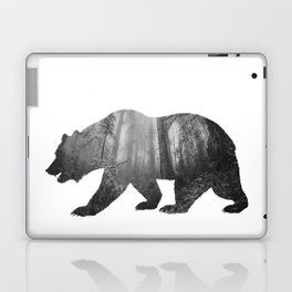 Bear Silhouette   Forest Photography Laptop & iPad Skin