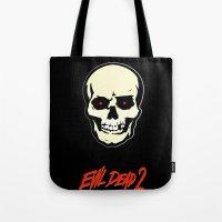 evil dead Tote Bags featuring Evil Dead 2 - Dead by Dawn by Dukesman