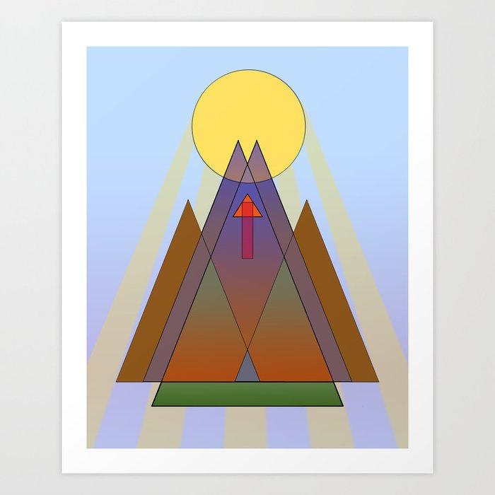 To the Sun Art Print