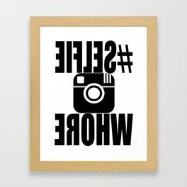 #SELFIEWHORE Framed Art Print