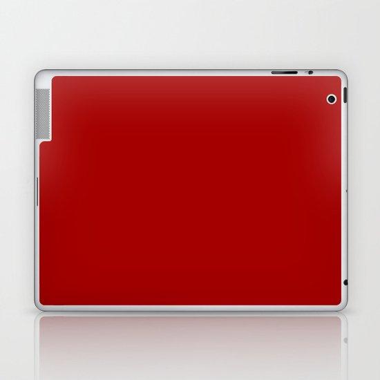 Dark candy apple red Laptop & iPad Skin