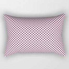 Boysenberry Polka Dots Rectangular Pillow
