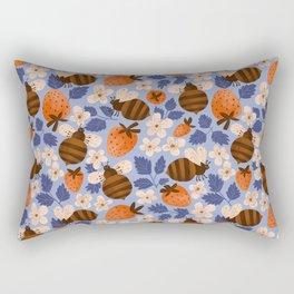Summer and bee Rectangular Pillow