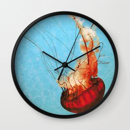 Sea Jelly Wall Clock