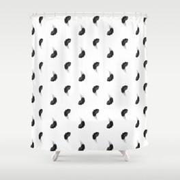 Black feather Shower Curtain