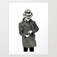 tom waits Art Prints featuring tom waits by Eric Tiedt