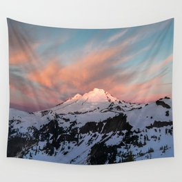 Mount Baker Mountain Adventure Sunset - Nature Photography Wall Tapestry