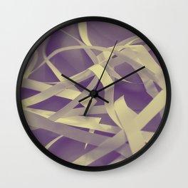 Purple paper Wall Clock