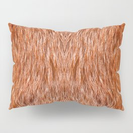 Red fox fur pelt texture cloth abstract Pillow Sham