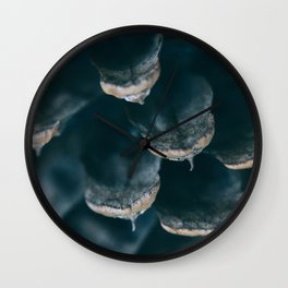California Pine Cone Macro Photography Wall Clock