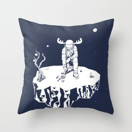 Astro moose Throw Pillow