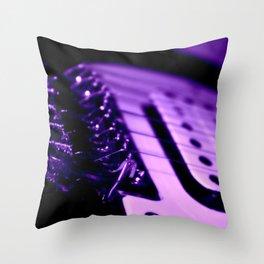 Guitar in Purple fine art photography Throw Pillow
