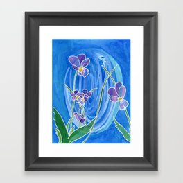 Violet Swirl Framed Art Print