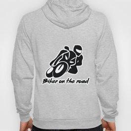 Biker on the road 1 Hoody