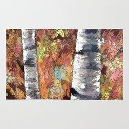 Aspen Trees Panorama Rug