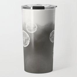 Bubble Photography, Black and White Bathroom Art, Laundry Room Photo Travel Mug