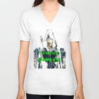 green arrow V-neck T-shirts featuring Arrow by SwanniePhotoArt