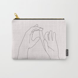 Hands line drawing illustration - Darcy Natural Carry-All Pouch