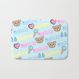 CRY BABY PRINT- PASTEL BLUE Bath Mat