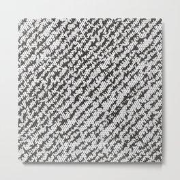 Modern White Black Popular Trendy Abstract Pattern Metal Print
