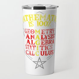 math magic teacher school statistics joke gift Travel Mug